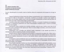 Carta oficial do Presidente do Supremo Concílio da IPB, Rev. Roberto Brasileiro sobre a tragédia em Brumadinho/MG