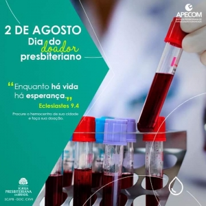 Dia do doador de Sangue Presbiteriano
